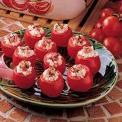 Cheese-Stuffed Cherry Tomatoes