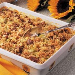 Baked Rice with Sausage