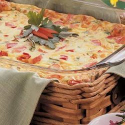Crab Quiche Bake