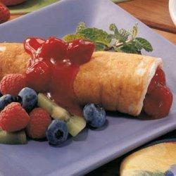 Fruit Pancake Roll-Ups