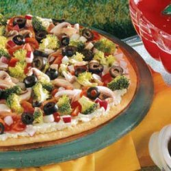 Festive Veggie Pizza