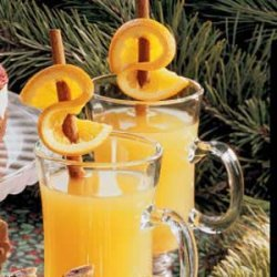 Hot Cider with Orange Twists