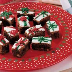 Gift-Wrapped Brownies
