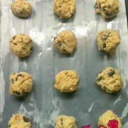 Candied Rose Petal and Chocolate Cookies