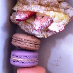Hazelnut Macaroon and Strawberry Tart