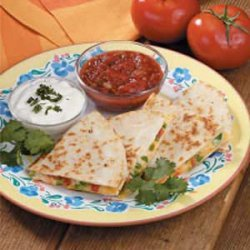 Two-Cheese Quesadillas
