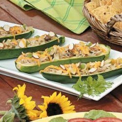 Asian Stuffed Zucchini