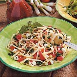 Spinach Tomato Linguine