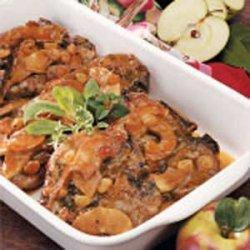 Apple-Smothered Pork Chops