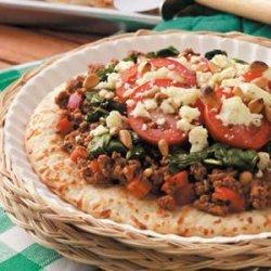Individual Greek Pizzas
