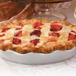 Pear-Cranberry Lattice Pie