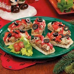 Christmas Pizza Strips