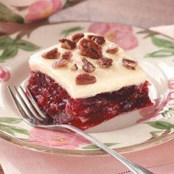 Cranberry Gelatin Squares