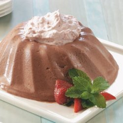 Chocolate Bavarian with Strawberry Cream