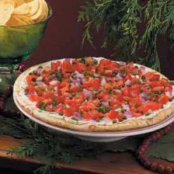 Smoked Salmon Tomato Pizza