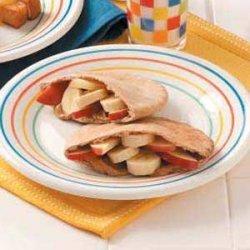 Fruity Peanut Butter Pitas