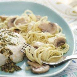 Mushroom Feta Pasta