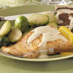 Salmon with Mornay Sauce