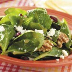 Dijon-Walnut Spinach Salad