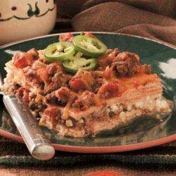 Venison Tortilla Lasagna