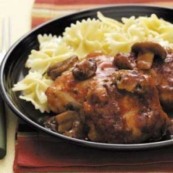 Chicken Merlot with Mushrooms