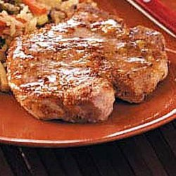 Homemade Maple Glazed Pork Chops