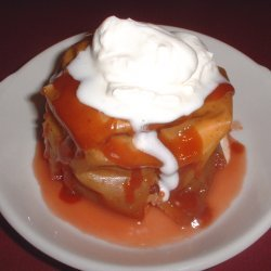 Warm Baked Apples with Cranberry-Caramel Sauce