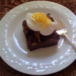 Chocolate Puddings with Orange Whipped Cream