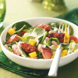 Smoked Sausage-Spinach Salad