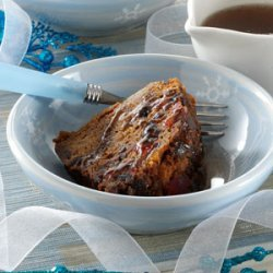 Christmas Pudding with Nutmeg Sauce