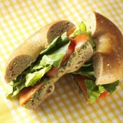 Smoked Salmon Bagel Sandwiches