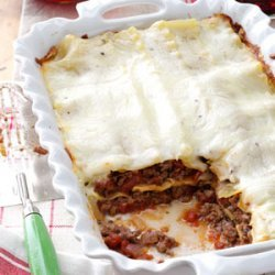 Lasagna with White Sauce