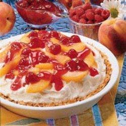 Peach Melba Ice Cream Pie