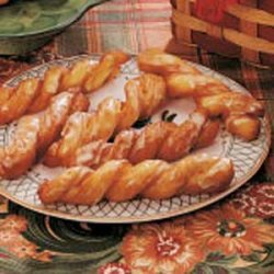 Orange-Glazed Crullers