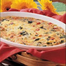 Spinach Cheese Strata