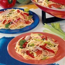 Pork and Cabbage with Spaghetti