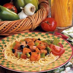 Snappy Eggplant Spaghetti