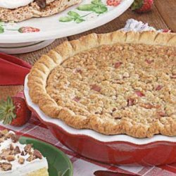Sour Cream Rhubarb Pie