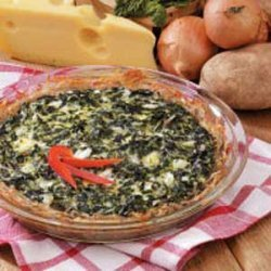Potato Spinach Pie