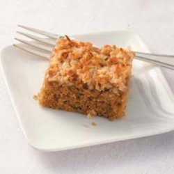 Oatmeal Cake with Broiled Frosting