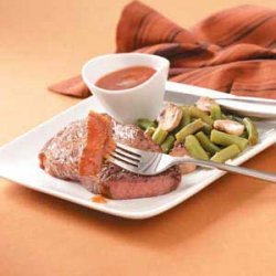 Steak with Dipping Sauce