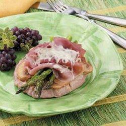 Asparagus Veal Cordon Bleu