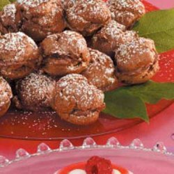 Chocolate-Hazelnut  Cream Puffs