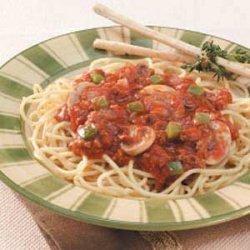 Herbed Mushroom Spaghetti Sauce