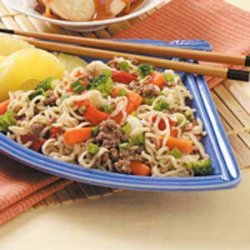 Asian Beef and Noodles recipe
