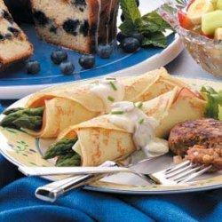 Asparagus Ham Crepes