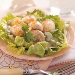 Lemony Mushroom Lettuce Salad