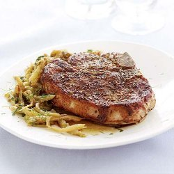 Hoisin Pork Chops with Fennel Slaw