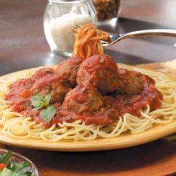 Meatballs with Spaghetti Sauce