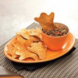Boo rrific Black Bean Dip with Chips